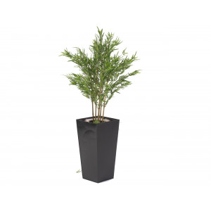 4 Foot Bamboo Tree In Black Metal Pot